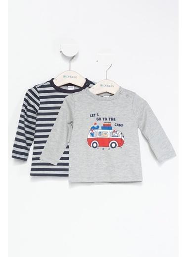 DeFacto Erkek Bebek Araba Baskılı Pijama Gri